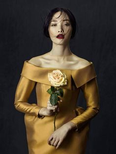 """stormtrooperfashion:  Kwak Ji Young in """"Flowers in December"""" by Zhang Jingna forFashion Gone Rogue,October 2013"""