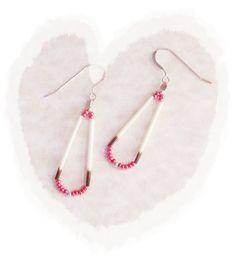 Native American Inspired Red Teardrop Earrings by montanajewel, $14.50