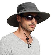 45dcaed731 EINSKEY Men s Waterproof Sun Hat Outdoor Sun Protection Bucket Safari Cap  For S  fashion
