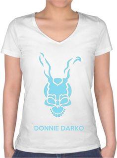 Donnie Darko 01 Kendin Tasarla - Bayan V Yaka Tişört