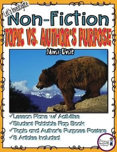 Teach your students the difference between an author's topic and an author's purpose!  This mini-unit is a must-have resource for any 3rd grade, 4th grade, or 5th grade classroom!  Articles are included!