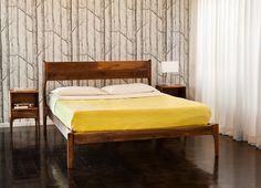 Mid Century Danish Modern Walnut Bed with by PeteDeebleFurniture, $3400.00