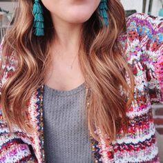 Fall Outfit Inspiration via Glitter & Gingham / tassel earrings
