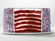 Red Velvet Fireworks Cake