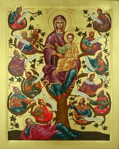 Lessons from the Divine Office of the Annunciation of the Blessed Virgin Mary: Isaias Religious Icons, Religious Art, Roi David, Tree Of Jesse, Zoro, Jesus In The Temple, Isaiah 11, Jesus E Maria, Saint Esprit