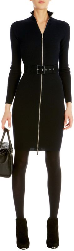 Karen Millen ●  Zip knit dress (not sure how you breathe, but love the look)