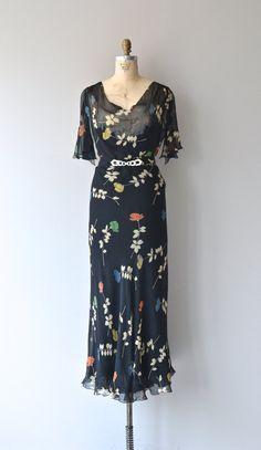 Fleur Primaire dress 1930s silk chiffon dress by DearGolden
