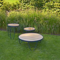 Teak Alu Pesaro side and coffee table Luxury Furniture, Garden Furniture, Outdoor Furniture, Outdoor Decor, Home Vegetable Garden, Furniture Inspiration, Outdoor Life, Interior Decorating, Simple
