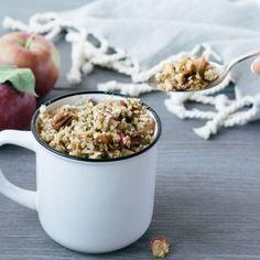 Gruau préparé la veille 3 façons - Marie-Ève Caplette Nutritionniste Nutrition, Marie, Oatmeal, Veggies, Breakfast, Food, Grits Recipe, No Bake Oatmeal, Apple Crisp