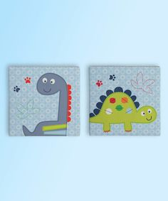 Little Dinos Wall Art Décor - Set of Two by Bananafish #zulily #zulilyfinds
