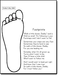 Footprints Poem for Father's day
