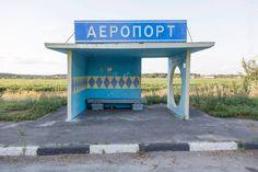 Soviet Bus Stops - Christopher Herwig - Airport, Paltova, Ukraine - Lazer Horse