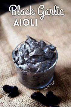 black garlic at home, I will endlessly try to find more excuses to have more garlic in my life. I also really love mayo. The answer? Garlic Aioli Recipe, Garlic Recipes, Garlic Ideas, Dips, Sauces, Black Garlic, Marinade Sauce, Black Food, Gourmet