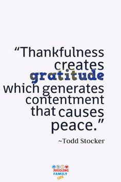 Quotation about thankfulness and gratitude