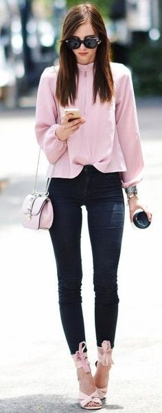 #summer #trendy #outfitideas Pink + Black
