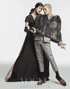 G-Dragon and Park Ji Hye - Vogue Magazine August Issue 13 --- I don't usually pin women, but I made an exception for the Vogue series of pictures.