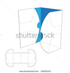 Brochure Folder with Die Cut Layout - stock vector