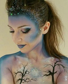 Creative Makeup Ideas: Painted Lady Suns and Moons
