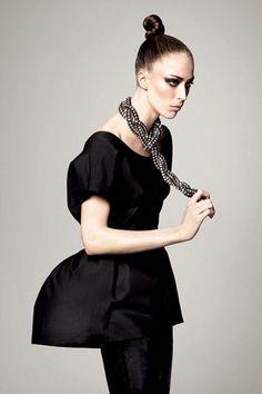 Raquel Zimmermann in a Vogue Editorial by new york to paris.