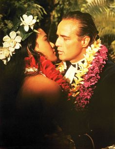 "Marlon Brando and Tarita Teriipia ""Mutiny on the Bounty"", 1962"