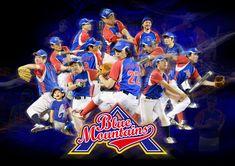 青山ブルーマウンテンズ poster 2016 2017年 野球同好会イメージポスターデザイン。