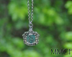 Steampunk Charm Harry Potter Slytherin Pendant Necklace Gift for Kids