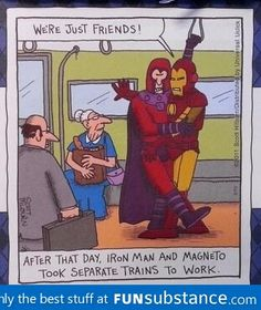 Magneto and iron man