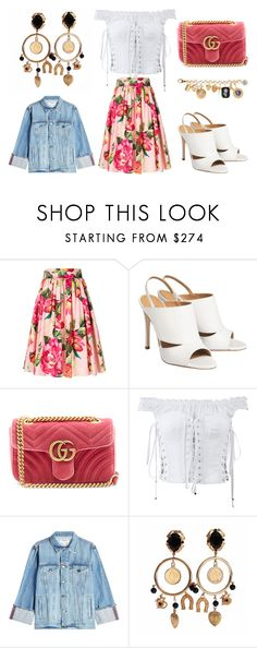 """""""BROKEN"""" by laura-melissa-cortes on Polyvore featuring Dolce&Gabbana, Gucci y Frame"""