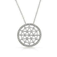 Bling Jewelry 925 Silver Medallion CZ Lattice Circle of Life Pendant Necklace 16in Bling Jewelry. $49.99. Cubic Zirconia stones. Voile Filigree Circle of Life. Pendant diameter is 1.25in. .925 Sterling Silver with rhodium plating. 16 inch chain included