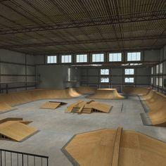 interior skate board parks - Google Search