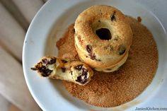 Banana Chocolate Chip Baked Doughnuts