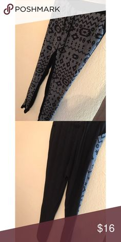 Sweatpants Black and grey sweatpants perfect condition . Perfect for a lazy comfy day . shinestar Pants Leggings