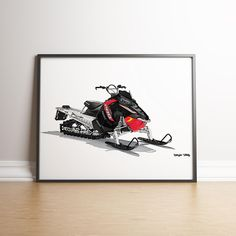 Snowmobile Wall Art, Winter Print, Nurseries Print, Transportation Wall Art, Boys and Vehicles Room Decor, Sports Print, Girls Printable Art