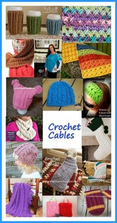 Posh Pooch Designs Dog Clothes: Crochet Cables - Tuesday Treasury of Crochet Patterns