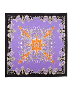 Foulard Square Scarf, Purple by Versace at Last Call by Neiman Marcus.