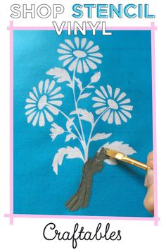 Mina plast papper Use stencil vinyl with your Silhouette or Cameo machine to create beautiful crafts Vinyl Crafts, Vinyl Projects, Diy And Crafts, Craft Projects, Paper Crafts, Silhouette Curio, Silhouette Cameo Projects, Cricut Cards, Cricut Vinyl
