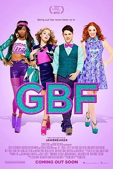 G.B.F (aka Gay Best Friend) is a 2013 American independent teen comedy film directed by Darren Stein and is produced by School Pictures, Parting Shots Media and Logolite Entertainment. It made its first official screening at the 2013 Tribeca