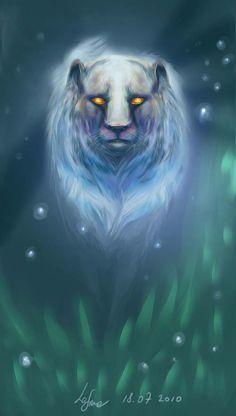 Forest Ghost by Igriel Medium: Digital Art Mythical Creatures List, Inner Core, Mystic, Beast, Digital Art, Lion Sculpture, Deviantart, Fantasy, Statue