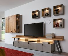 Hochwertige Wohnwände was last modified: August 2017 by Flat Interior Design, Luxury Homes Interior, Contemporary Interior Design, Room Interior, Interior Design Living Room, Living Room Wall Units, Living Room Tv Unit Designs, Home Living Room, Living Room Decor