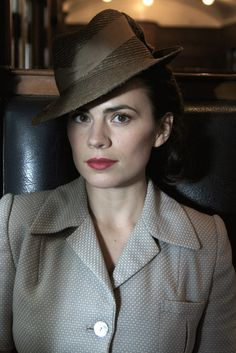 Recreating the world at the time of WWII in RESTLESS couldn't be done without the right character styling. Costume designer Charlotte Holdich, who knows a… Hayley Elizabeth Atwell, Haley Atwell, London Girls, Peggy Carter, Luke Cage, Nick Fury, Types Of Girls, Jessica Jones, English Actresses