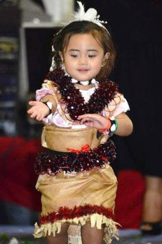 Tongan Cutie being one w/her culture