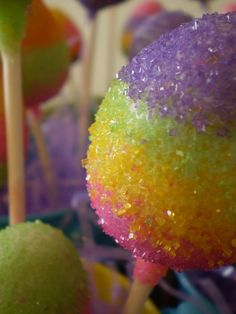 Beautiful sparkly cake pops for Easter.