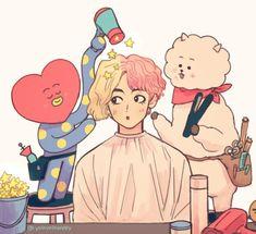 Bts Chibi, Bts Taehyung, Bts Bangtan Boy, Arte Copic, Kpop Anime, V Bts Wallpaper, Kpop Drawings, Dibujos Cute, Fan Art