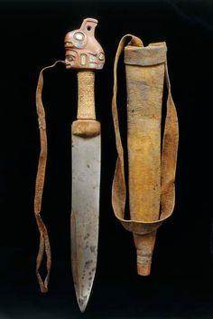 Tlingit dagger with killerwhale pommel