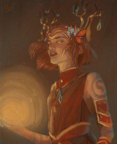 Female mythical antler reference