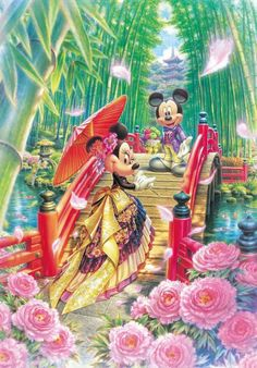 Tenyo Japan Jigsaw Puzzle (D-1000-451) Disney MIYABI Japanese Wedding( 1000 Pieces)