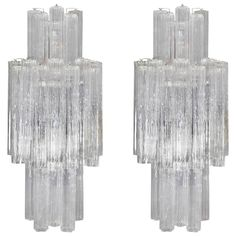 Pair of Monumental Tronchi Sconces by Venini for Camer | From a unique collection of antique and modern wall lights and sconces at https://www.1stdibs.com/furniture/lighting/sconces-wall-lights/