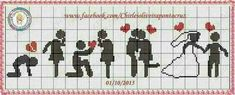 This Pin was discovered by Arz Cross Stitch Love, Cross Stitch Cards, Cross Stitching, Cross Stitch Embroidery, Wedding Cross Stitch Patterns, Loom Patterns, Easy Crochet Patterns, Knitting Charts, Plastic Canvas Patterns