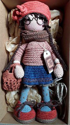 katxirula Crochet Doll Pattern, Easy Crochet Patterns, Amigurumi Patterns, Amigurumi Doll, Doll Patterns, Knitted Dolls, Crochet Dolls, Crochet Yarn, Knitted Hats