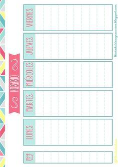 Resultado de imagen para ideas para hacer horario escolar